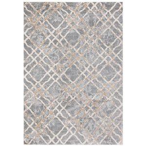 Tapis rectangulaire Isabella de Safavieh, 3 pi x 5 pi, gris argenté/ivoire