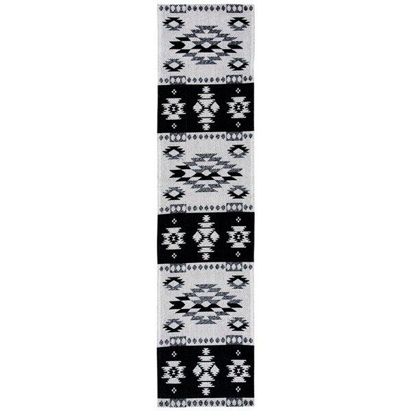 Tapis rectangulaire Augustine de Safavieh, 2 pi x 8 pi, noir/gris clair