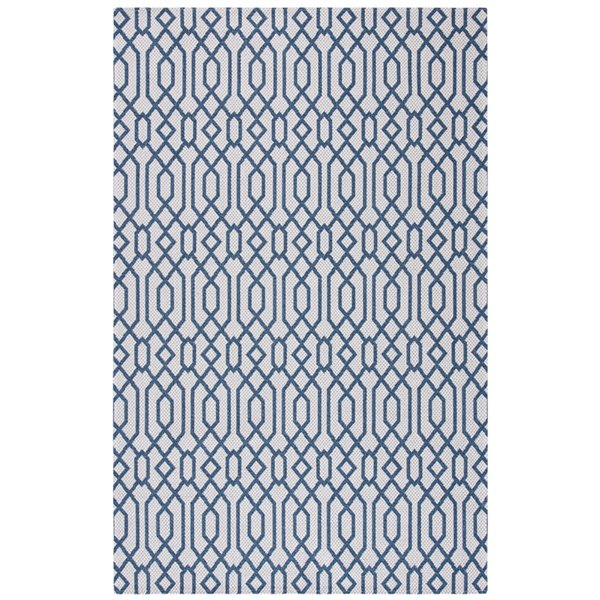 Safavieh Augustine Area Rug - 2-ft 10-in x 5-ft - Rectangular - Navy/Light Gray