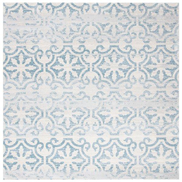 Tapis carré Isabella de Safavieh, 6 pi 7 po x 6 pi 7 po, turquoise/ivoire