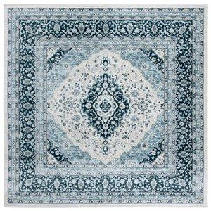 Tapis carré Isabella de Safavieh, 6 pi 7 po x 6 pi 7 po, crème/bleu foncé