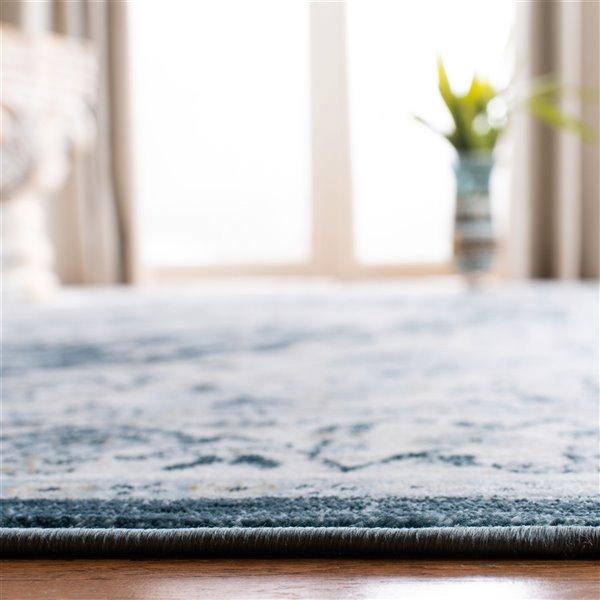 Tapis rectangulaire Isabella de Safavieh, 8 pi x 10 pi, crème/bleu marine