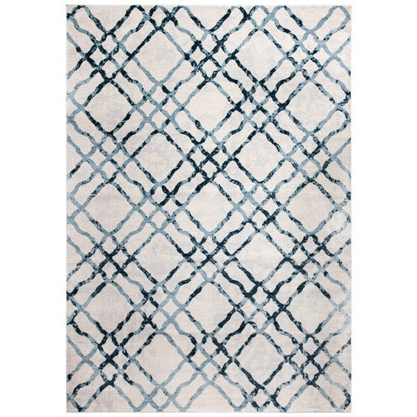 Safavieh Isabella Area Rug - 5-ft 3-in x 7-ft 7-in - Rectangular - Ivory/Turquoise