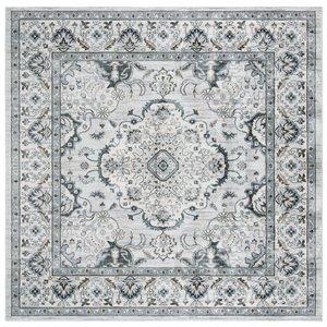 Tapis carré Isabella de Safavieh, 6 pi 7 po x 6 pi 7 po, gris clair/crème