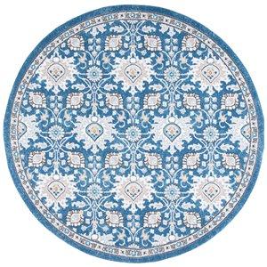 Tapis rond Liberty de Safavieh, 6 pi 7 po x 6 pi 7 po, bleu foncé/ivoire
