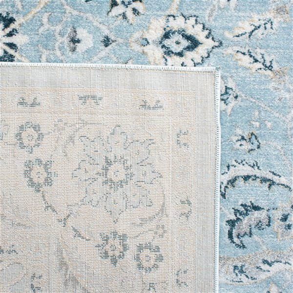 Safavieh Isabella Area Rug - 9-ft x 12-ft - Rectangular - Light Blue/Cream