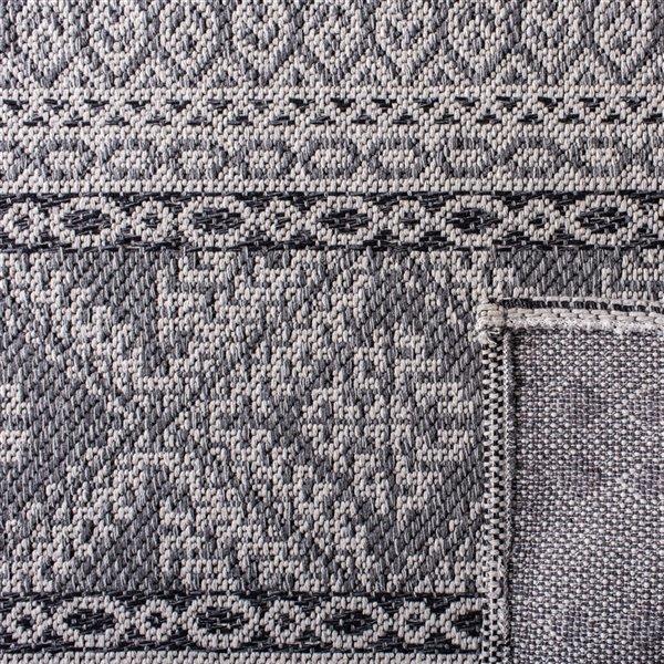 Tapis rectangulaire Augustine de Safavieh, 8 pi 7 po x 12 pi, gris clair/anthracite