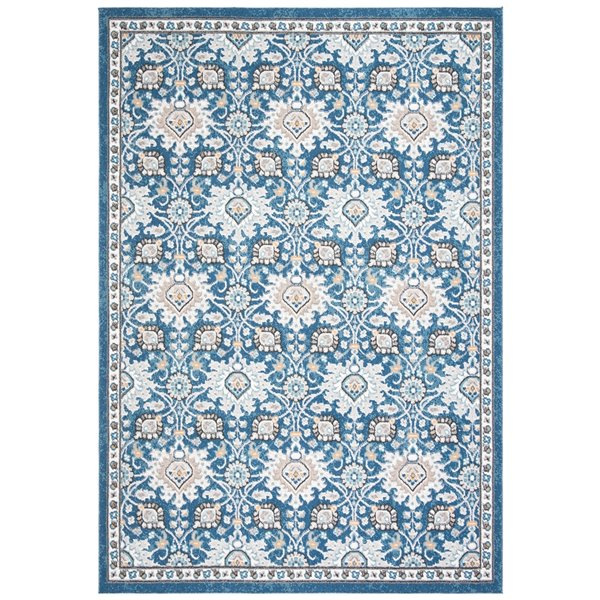 Safavieh Liberty Area Rug - 5-ft 3-in x 7-ft 7-in - Rectangular - Dark Blue/Ivory