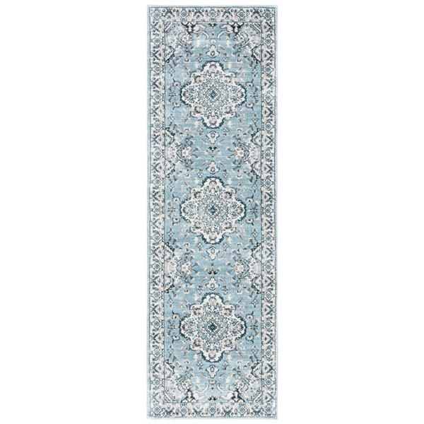 Safavieh Isabella Area Rug - 2-ft 2-in x 7-ft - Rectangular - Light Blue/Cream