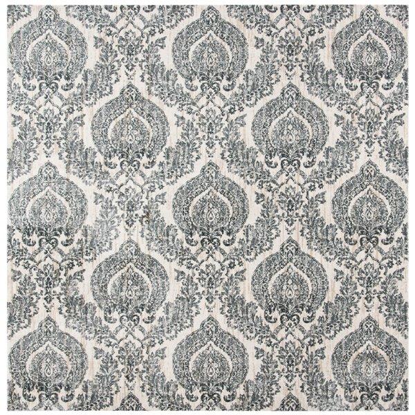 Tapis carré Isabella de Safavieh, 6 pi 7 po x 6 pi 7 po, gris/ivoire