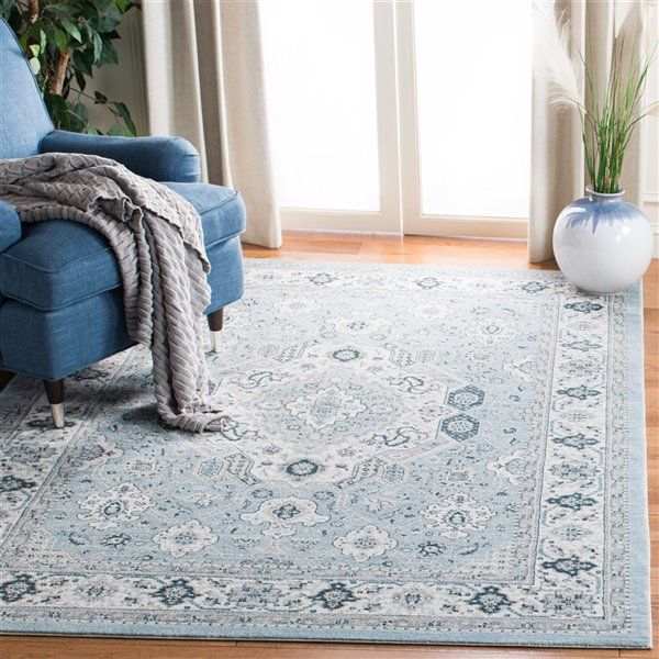 Safavieh Isabella Area Rug - 9-ft x 12-ft - Rectangular - Blue/Cream