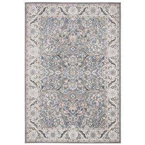 Tapis rectangulaire Isabella de Safavieh, 8 pi x 10 pi, gris/gris foncé