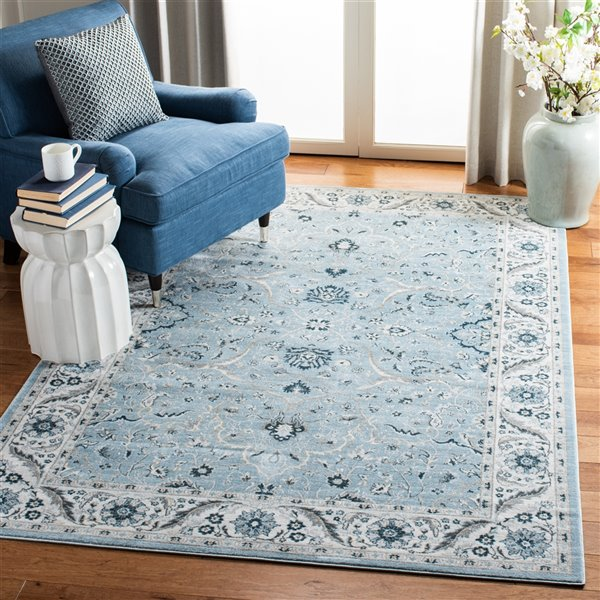 Safavieh Isabella Area Rug - 5-ft 3-in x 7-ft 6-in - Rectangular - Light Blue/Cream