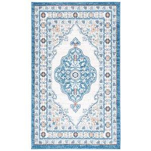 Tapis rectangulaire Liberty de Safavieh, 4 pi x 6 pi, bleu foncé/ivoire