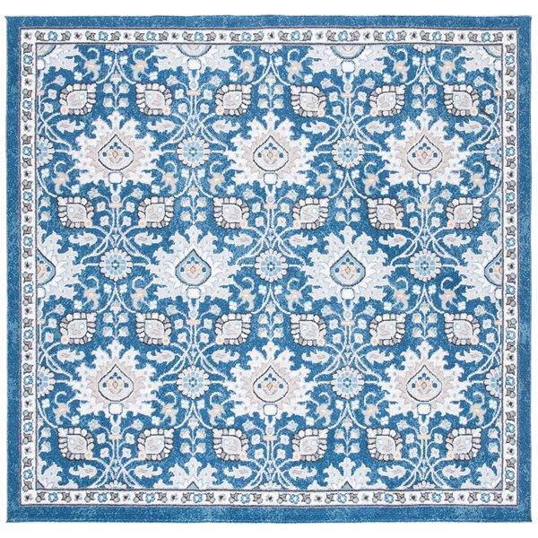 Tapis carré Liberty de Safavieh, 6 pi 7 po x 6 pi 7 po, bleu foncé/ivoire