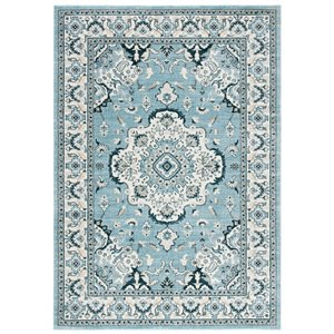 Safavieh Isabella Area Rug - 4-ft x 6-ft - Rectangular - Light Blue/Cream