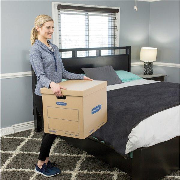 Boîtes de déménagement grandes SmoothMove de Fellowes Canada - 5 pqt