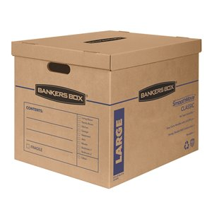 Fellowes Canada SmoothMove Large Moving Boxes - 5 Pack