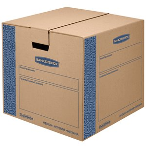 Fellowes Canada SmoothMove Prime Medium Moving Boxes - 8 Pack