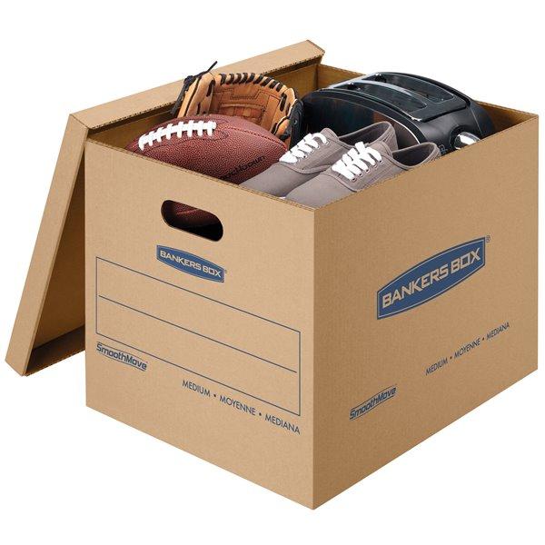 Boîtes de déménagement moyennes SmoothMove de Fellowes Canada - 8 pqt
