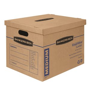 Fellowes Canada SmoothMove Medium Moving Boxes - 8 Pack