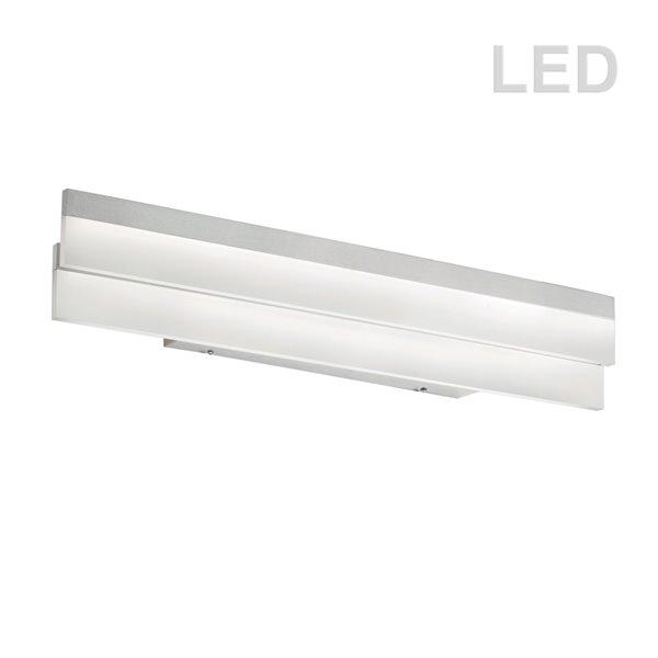 Dainolite Kepler Vanity Light - 1-Light - 26-in - White Frosted Acrylic and Polished Chrome