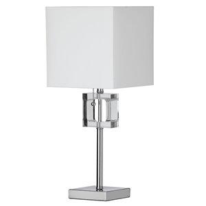 Lampe de table Crystal de Dainolite, 1 lumière, 20,5 po, chrome poli