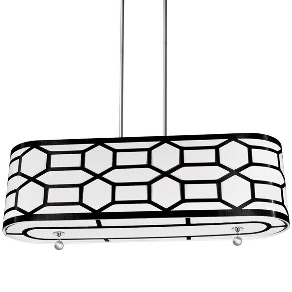 Luminaire suspendu Pembroke de Dainolite, 4 lumières, 34 po x 10 po, noir
