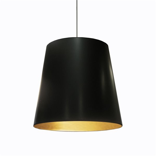 Dainolite Oversized Drum Pendant Light - 1-Light - 26-in x 21-in - Black