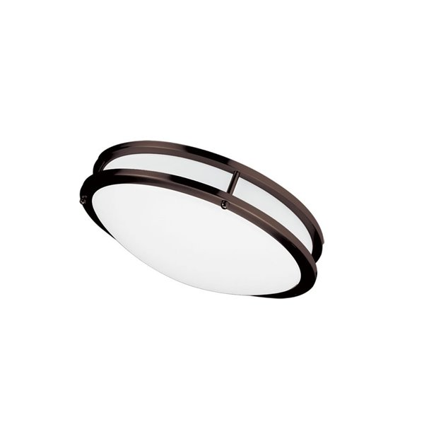 Dainolite Flush Mount Light - 1-LED Light - 12-in x 3.75-in - Bronze