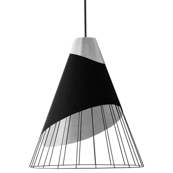 Dainolite Farthingale Pendant Light - 1-Light - 24-in x 28.5-in - Black/Silver