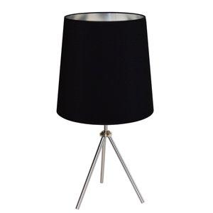 Lampe de table Oversized Drum de Dainolite, 1 lumière, 30 po, chrome satiné
