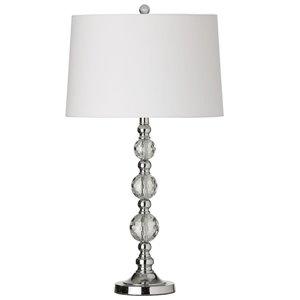 Lampe de table Crystal de Dainolite, 1 lumière, 29,25 po, blanc