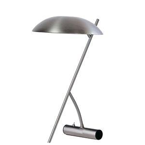 Lampe de table de Dainolite, 1 lumière, 22 po, chrome satiné