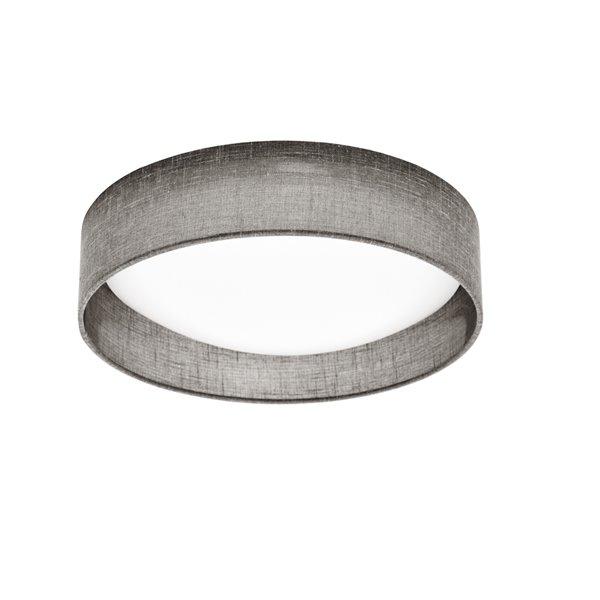 Plafonnier de Dainolite, 1 lumière DEL, 11 po x 3 po, gris