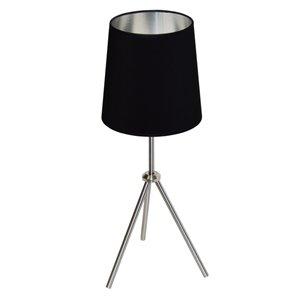 Lampe de table Oversized Drum de Dainolite, 1 lumière, 28,5 po, chrome satiné