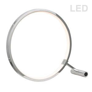Lampe de table de Dainolite, 1 lumière, 12 po, chrome poli