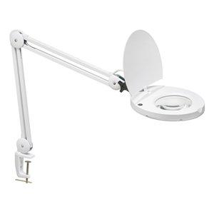 Lampe de table de Dainolite, 1 lumière, 47 po, blanc