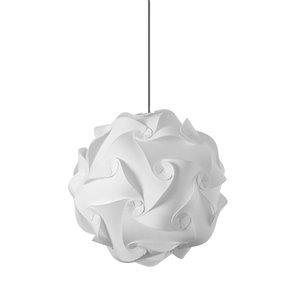 Dainolite Globus Pendant Light - 1-Light - 16-in x 16-in - White