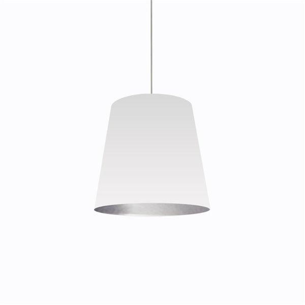 Dainolite Oversized Drum Pendant Light - 1-Light - 20-in x 16-in - White