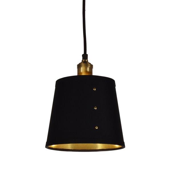Luminaire suspendu Fayette de Dainolite, 1 lumière, 8 po x 9.5 po, noir/or