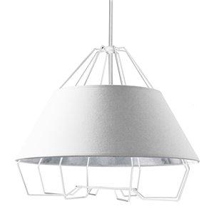 Dainolite Rockwell Pendant Light - 4-Light - 24-in x 20-in - White/Silver