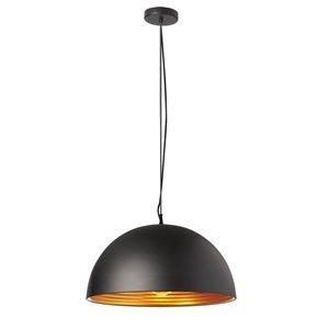 Dainolite Helsinki Pendant Light - 1-Light - 20-in x 10-in - Matte Black