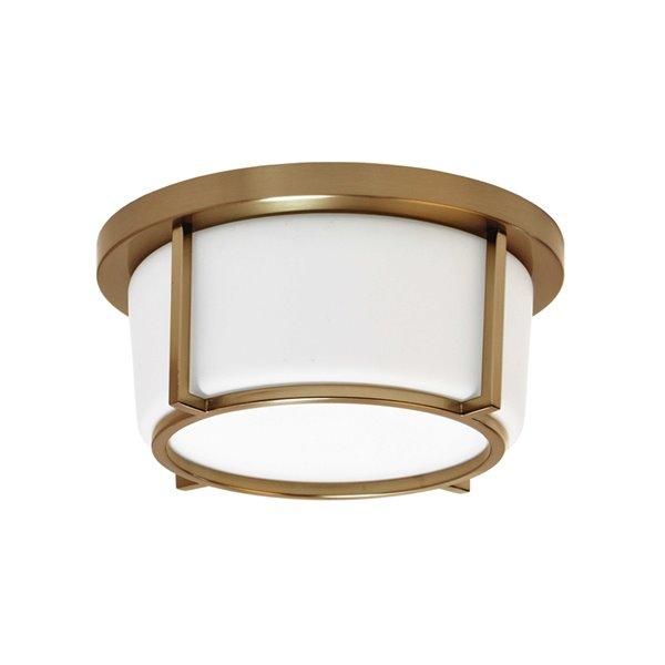 Dainolite Flush Mount Light - 1-LED Light - 10-in x 4.5-in - Vintage Bronze