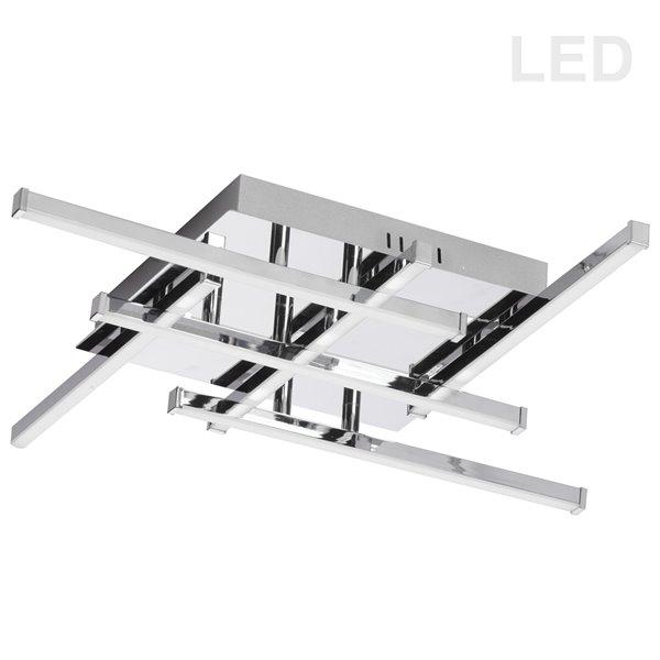 Dainolite Summit Flush Mount Light - 6-LED Light - 20-in x 3.2-in - Polished Chrome