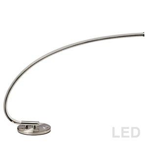 Lampe de table de Dainolite, 1 lumière, 19 po, chrome satiné
