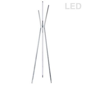 Dainolite Cerena Floor Lamp - 4-Light - 60-in - Polished Chrome