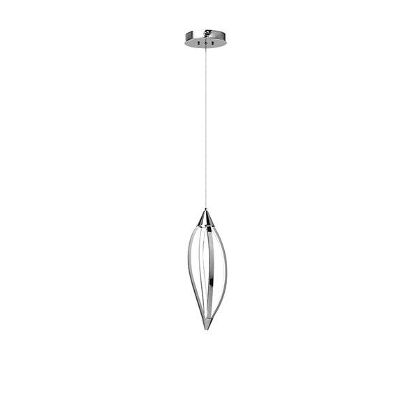 Dainolite Selene Pendant Light - 1-Light - 14-in x 12-in - Polished Chrome