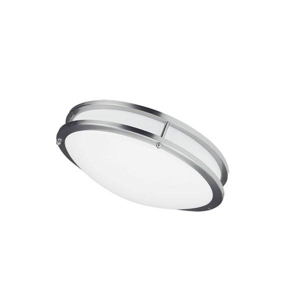 Dainolite Flush Mount Light - 1-LED Light - 12-in x 3.75-in - Satin Chrome