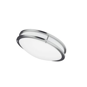 Plafonnier de Dainolite, 1 lumière DEL, 12 po x 3.75 po, chrome satiné
